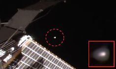 "A ""UFO was intercepted"" by the International Space Station (ISS), claim alien hunters, who allege footage from a NASA live camera feed which zoomed in on a mysterious glowing orb suddenly cut out."