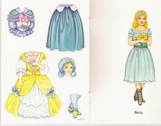 Betsy the Colonial Girl Sticker Paper Doll (2 of 5) by Marty Noble, Dover Publications