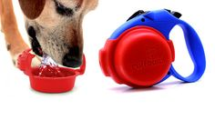 Ruff Bowl is the convenient way to have a travel water bowl while at the same time having a hands-free way of carrying your dog's used poop bags.  And the best part is that it conveniently clips onto most large retractable leashes.