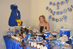 Cookie Monster Birthday Party Ideas | Photo 5 of 29 | Catch My Party