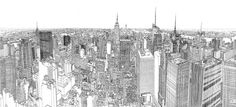 Impressive Sketched Panoramic View of NYC – Fubiz™