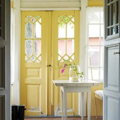 Yellow door, home