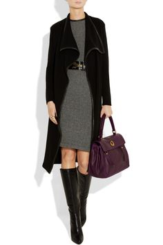 Classic business look with knee boots