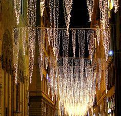 christmas lights on via del calzaioli