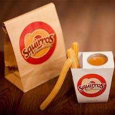 Squirros Spanish Doughnut Churros by Fosil & Friends Creative Branding, via…