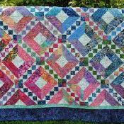 Batik Beauty - via @Craftsy  Love this in batiks!