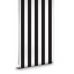Black & White Stripe Wallpaper by Ingrid + Mika for Milton & King ($98) ❤ liked on Polyvore featuring home, home decor, wallpaper, backgrounds, wall, black and white pattern wallpaper, black wallpaper, paper wallpaper, black white wallpaper and black and white home decor
