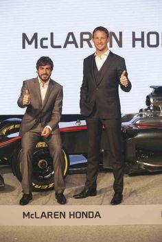 Fernando Alonso yJenson Button