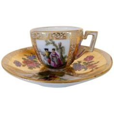 Antique 18th Century Meissen Porcelain Kakiemon Cup and Saucer For Sale at 1stdibs