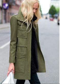 Emerson Fry Miliarty Green coat