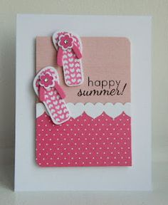this is just the cutest flip flop card by KandRdesigns