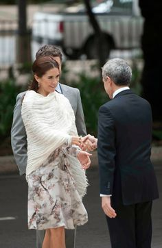 Crown Prince Frederik and Crown Princess Mary on the second day of their visit to Mexico