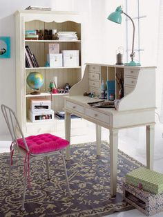Love this style of desk and book thing but hate the color