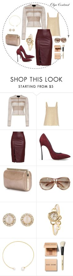 """25.05.2016"" by olgacontrast on Polyvore featuring мода, BCBGMAXAZRIA, Rochas, Casadei, Jimmy Choo, Tom Ford, Kate Spade, Fallon и Bobbi Brown Cosmetics"