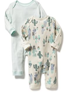 Patterned One-Piece Two-Pack for Baby Product Image