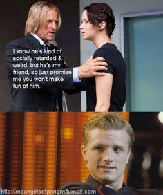 Mr. Katniss Everdeen #haymitch #peeta #hungergames #meangirls