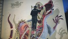 Nychos - Snake Bait  Nychos painting a big dissected rat somewhere in Vienna, Austria  Film by Fischer Christian