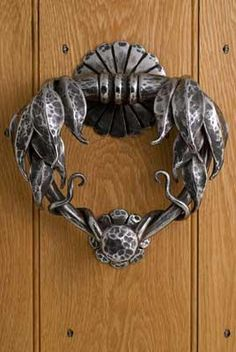 Grand designs door knocker of forged stainless steel