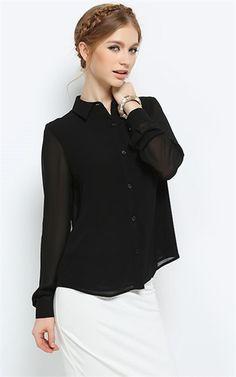 Ozsale - Black Blouse - Ozsale.com.au