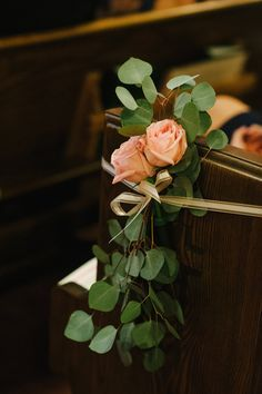 Image Result For Eucalyptus Church Pew Decorations Wedding Alter