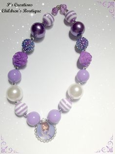 Princess Sophia the First Chunky Bubble Gum Necklace by PsCreation, $15.00