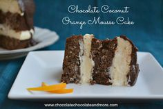 Chocolate Coconut Orange Mousse Cake has layers of chocolate cake flavored with orange and coconut. It's filled with orange mousse and topped with chocolate orange ganache. Make it with Grand Marnier for an adult dessert or use orange juice for the kids. I've been thinking about what to do with these amazing Vietnam origin extra …