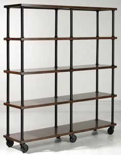 10 Metal & Wood Bookshelves for a Warm Industrial Look (apartment therapy)