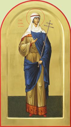 Αγία Γαλήνη / Saint Galene the Martyr of Corinth Church Icon, St G, Religious Pictures, Byzantine Icons, Orthodox Christianity, Orthodox Icons, Saints, Princess Zelda, Female