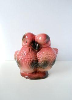 Vintage Hull Lovebird Planter, Hull USA 93 Lovebird Planter, Pink Valentines Love Birds, Gifts for Her
