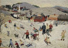 Hooked rug by Betty Bouchard, Nova Scotia, Canada