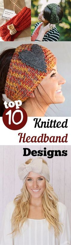 Knitted headbands are so cute, and are the perfect beginner project. Find free…