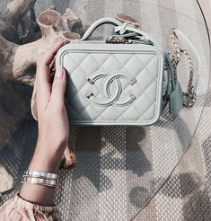 Chanel Vanity Case Bag Hi girls! Today we are going to talk about cute Chanel Vanity case bag! Because box bags are getting trend every single day! And if you're a real Chanel. Popular Handbags, Cheap Handbags, Chanel Handbags, Fashion Handbags, Purses And Handbags, Fashion Bags, Cheap Purses, Handbags Online, Chanel Bags
