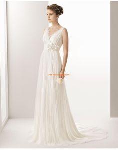 A-line Robe de mariée tulle appliquée fleurs