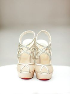 Louboutin wedding shoes to completely fall in love with: www.stylemepretty...