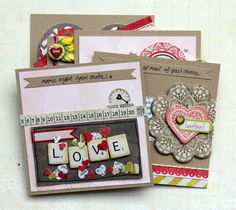 Valentine Coupon Set using Paper Heart Collection - Piradee Talvanna
