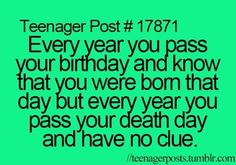 Some people, it's the same day... I just ruined birthdays for someone didn't I? Sorry about that.