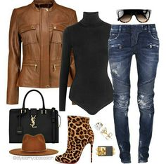 2019 Casual Fashion Trends For Women - Fashion Trends Look Fashion, Denim Fashion, Fashion Outfits, Womens Fashion, Fashion Trends, Fall Fashion, Fashion Black, Fashion Ideas, Fall Winter Outfits