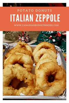 Italian Zeppole Potato Donuts (Cuddrurieddri) - Canadian Budget Binder A delicious and popular Italian recipe that is made over Christmas and New Years'. The Zeppole Potato Donut sprinkled with sugar is a must try. They are easy to make and even easier to eat. You can also eat them plain or some Italians put an anchovy in the middle before deep-frying. You can also add lemon or orange zest to the dough. It's just a fabulous recipe.must-try
