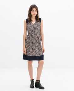 ZARA - WOMAN - COMBINED PRINTED DRESS
