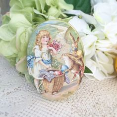 A personal favorite from my Etsy shop https://www.etsy.com/listing/226209209/vintage-easter-egg-tin-trinket-box