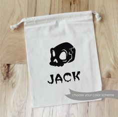 Skull   HALLOWEEN  Personalized Favor Bags  by foryourlittlemonkey