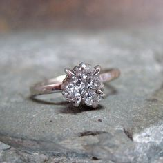 Rough Uncut Diamond Ring - the rough cut is so unique and symbolic of marriage