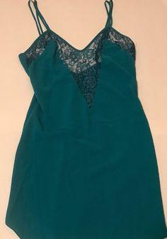 Victoria's Secret Medium Green Slip  #VictoriasSecret #FullSlips