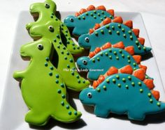 Dinosaur cookies 3 dozen mini dino cookies by SweetArtSweets