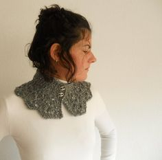 Silver gray neckwarmer by pipocass on Etsy, €19.00