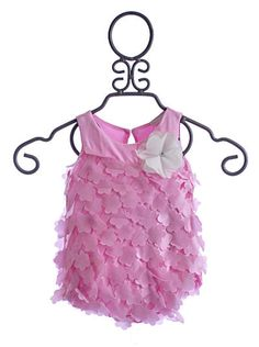 Cach Cach Infant Girls Romper Pretty in Pink $34.50