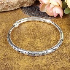 Cheap silver bangles women, Buy Quality silver bangle directly from China cuff bracelets Suppliers: new Gypsy Bohemian Vintage Retro Silver Bangles Women Classic Handmade Tibetan Silver Carved Plum Cuff Bracelets Diameter The Bangles, Silver Bangle Bracelets, Bracelets For Men, Silver Jewelry, Silver Ring, Silver Cuff, Jewellery Bracelets, Silver Earrings, Charm Bracelets