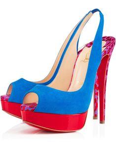 Christian Louboutin Lady Peep Sling 150 mm | Buy ➜ http://shoespost.com/christian-louboutin-lady-peep-sling-150-mm/