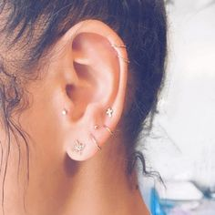 We love this unique piercing trend. #Piercings