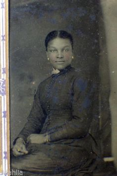 1800's Tintype Of Pretty African-American Woman ID as to Wood Family in Collectibles, Photographic Images, Vintage & Antique (Pre-1940), Tintypes | eBay